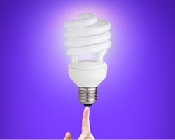 Marketing Tips and Strategies Represented as a Lightbulb