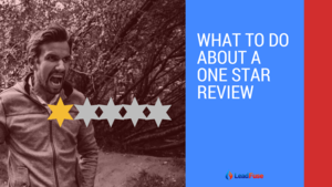 What to do about a one star review
