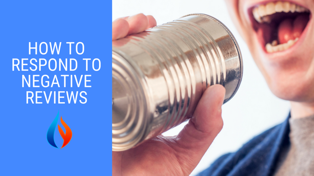 How to respond to negative reviews - talking into tin can