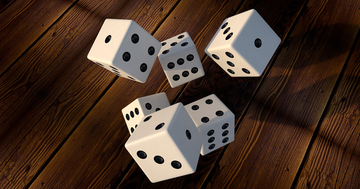 referreals are like the randomness of rolling dice