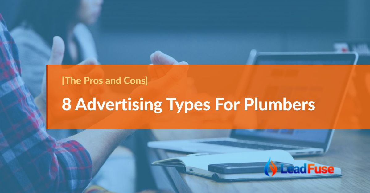 8 Advertising types for plumbers - pros and cons